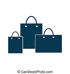 Paper bag shopping icon vector isolated on white background