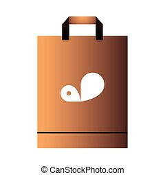 paper bag with handle and logo corporate design vector illustration design