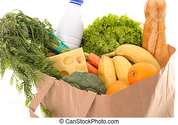 paper bag with healthy organic product