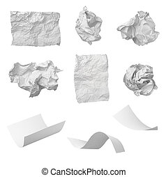 paper ball office frustration waste - collection of various...