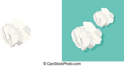 Paper ball vector