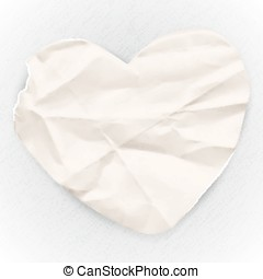 Paper banner in the shape of heart