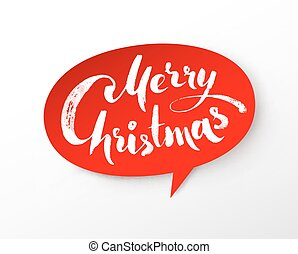 Paper banner with Merry Christmas lettering