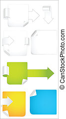 Paper Banners and Elements Vectors - Creative Abstract...