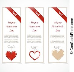 Paper banners for valentine's day