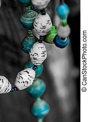 Paper beads necklaces - Necklaces made partly from paper ...