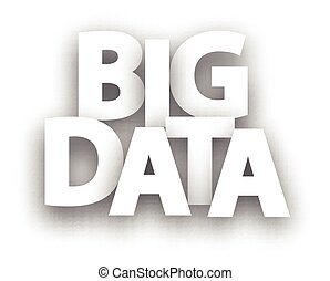 Paper big data sign. - White big data paper sign.