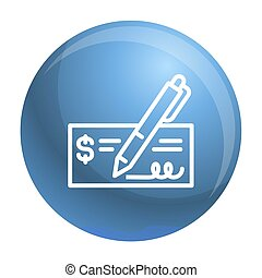 Paper bill money icon, outline style