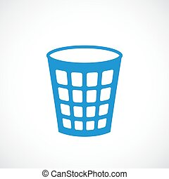 Paper bin vector icon