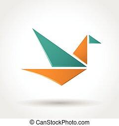 Paper bird icon.