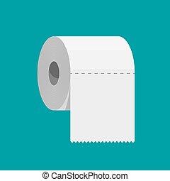 paper., blanco, rollo, servicio