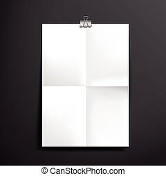 paper blank brochure template