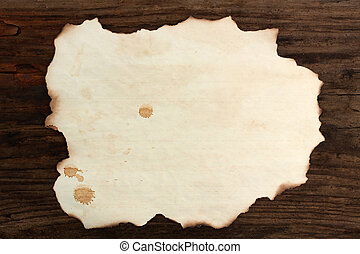 paper blank burnt wood old spots background