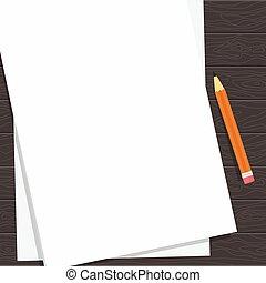 paper blank sheet dark