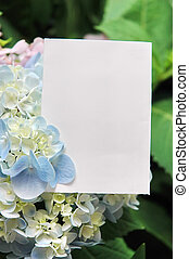 Paper blank with flowers
