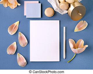 paper., bloemen, zacht, bladen