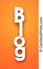 Paper blog sign.