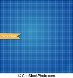 paper blueprint vector isolated