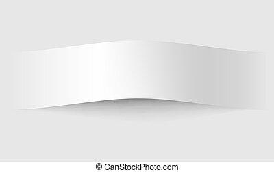 Paper board shadows. Illustration for web design on white...