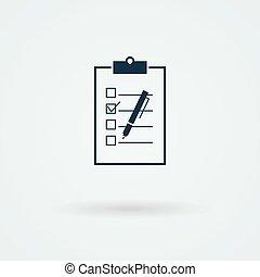 Paper board vector icon. Logo. Pictogram. Button.