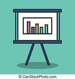 paper board with statistics icon