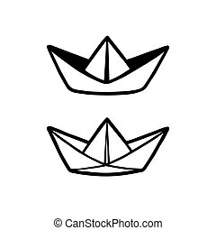 Paper boat drawing