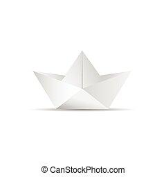paper boat icon illustration