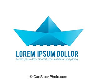 Paper Boat Icon, the silhouette of the vector