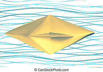 Paper Boat on water, Concept