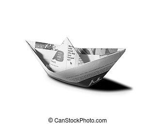 paper boat over white