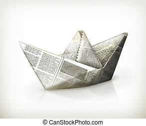 Paper boat, vector