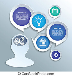 Paper business infographics design elements - Abstract paper...