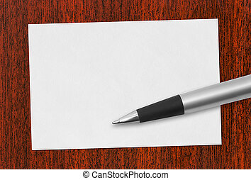 Paper card and pen
