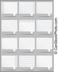 Paper Cards - Paper cards, vector eps10 illustration