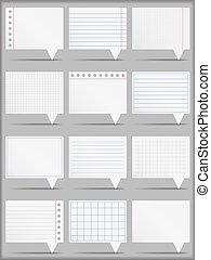 Paper Cards - Paper cards, vector eps10 illustration