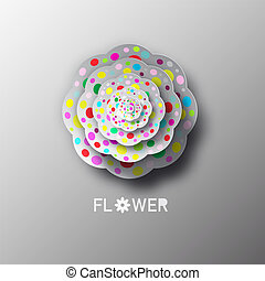 Paper Cat Flower Vector Illustration