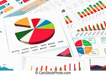 Paper charts, graphs and diagrams
