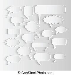 Paper Chat Bubbles Illustration