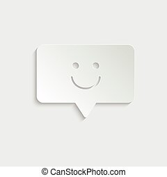 paper Chat - vector icon