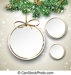 Paper christmas balls. - Paper christmas balls with golden ...