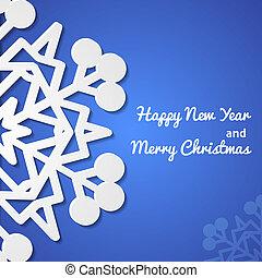 Paper christmas snowflake card