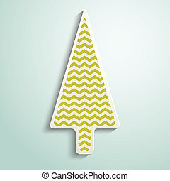 paper Christmas tree with geometric pattern