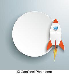 Paper Circle Rocket