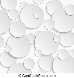 Paper circle stickers with shadows. Vector illustration.