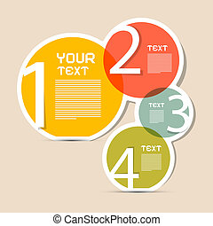 Paper Circle Vector Infographics Layout - Template