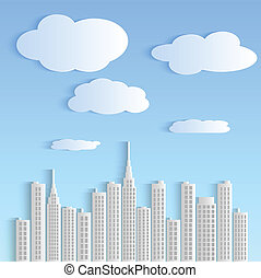 Paper City Illustration