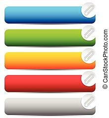 Paper clip, clip icon, element. Vector Illustration