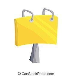 Paper clip icon, cartoon style