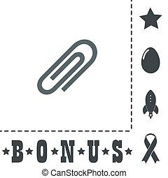 paper clip icon.