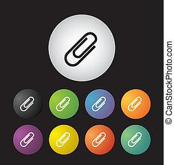 paper clip icon set